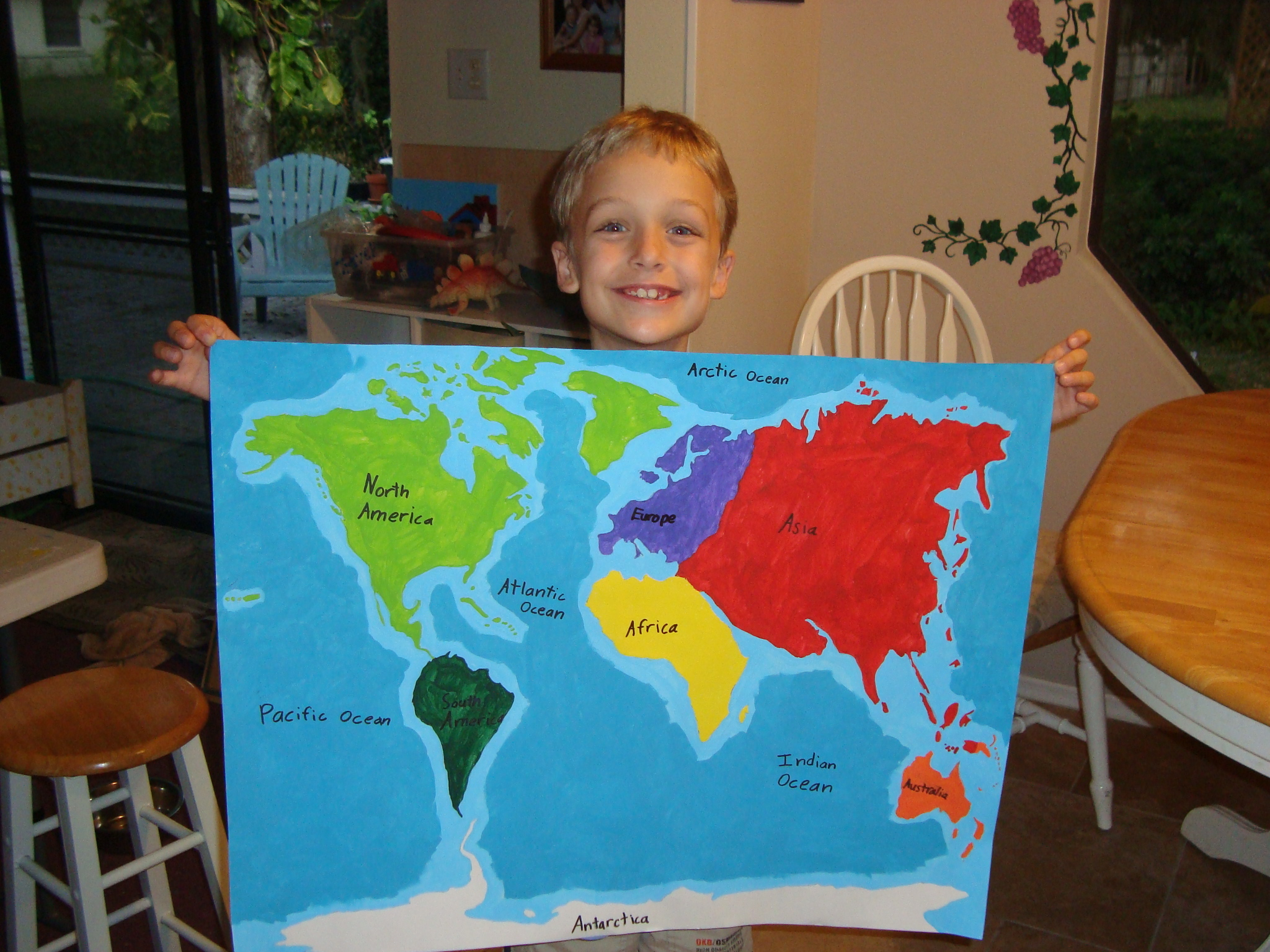 Labeled world map continents and oceans map of the world labeling